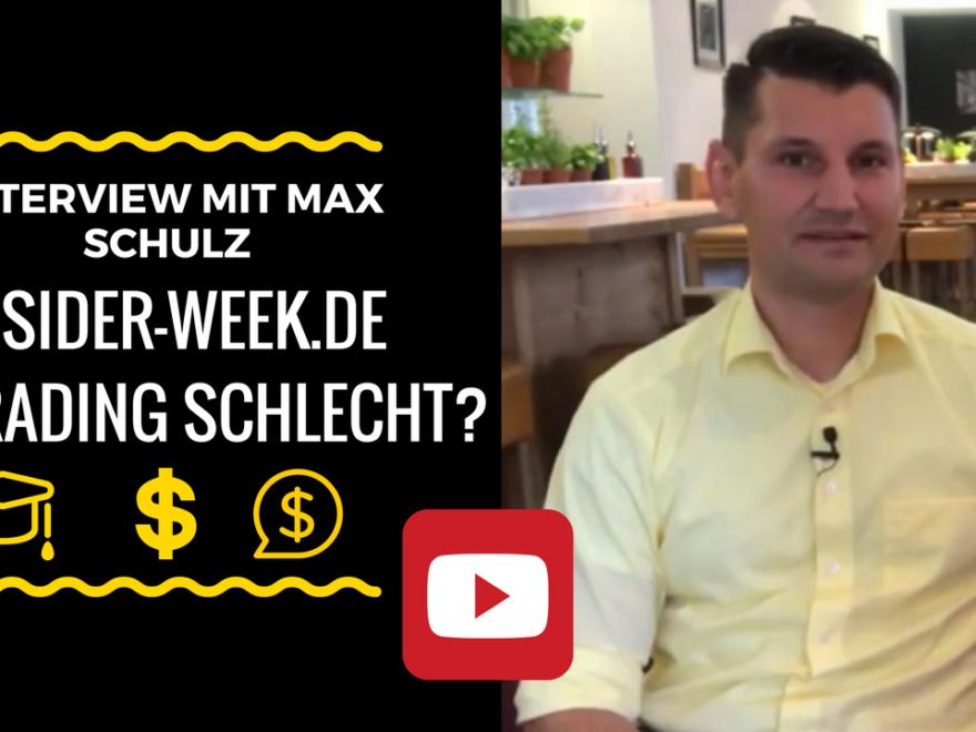 Interview mit Max Schulz von Insider Week